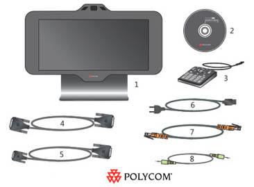 Polycom HDX 4500 Package Items