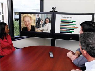 Polycom HDX 7000 in Meeting Room with Dual Monitor